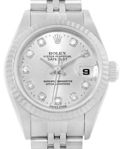 Rolex Rolex Datejust Ladies Steel 18K White Gold Diamond Dial Watch 79174