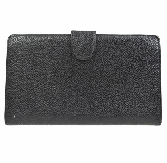 Chanel Chanel quilted black leather fold wallet Image 1