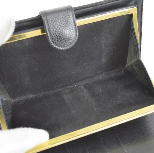Chanel Chanel quilted black leather fold wallet Image 6