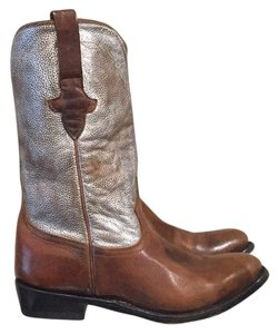 Ash Brown and Silver Boots