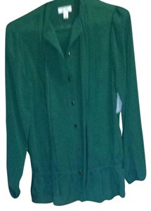 Bisou Bisou Button Down Shirt Evergreen
