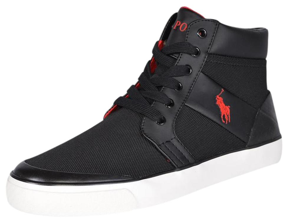 variety of designs and colors special price for best prices Polo Ralph Lauren Black Men's Isaak Mesh High Top Sneakers Size US 8.5  Regular (M, B) 19% off retail