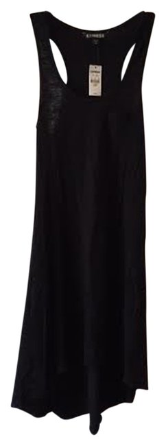 Express short dress Black Coverup Beach on Tradesy