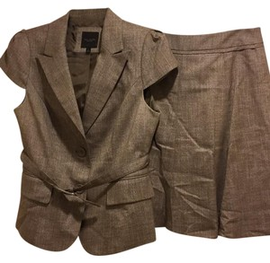 The Limited flirty brown skirt suit