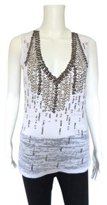 Cache Metalic Studs Top White