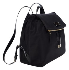 Kate Spade Nylon Patent Leather Backpack