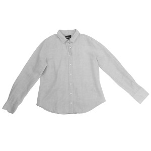 J.Crew Shirt Cotton-linen Longsleeve Button Down Shirt Flax