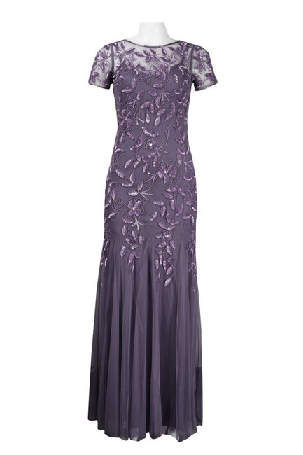 Adrianna Papell Hunter Gown Mother Of The Bride Bridesmaid Dress Image 4