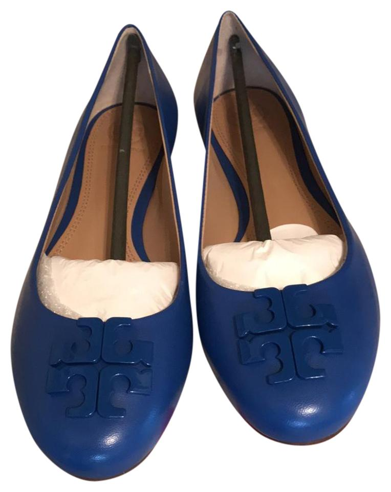 Tory Burch Blue Macaw Nwt/Box Lowell Brazil 2 Ballet -made In Brazil Lowell Flats e7bbb9