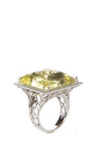 John Hardy John Hardy Yellow Quartz & Diamond Ring