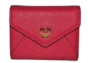MCM Authentic MCM Hot Pink Trifold Wallet