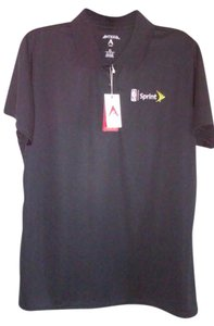 SPRINT/NBA LOGO Antigua Performance Apparel Button Down Shirt Women's Black