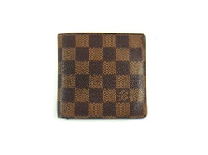 Louis Vuitton Damier Canvas Leather Marco Bifold Men's Wallet