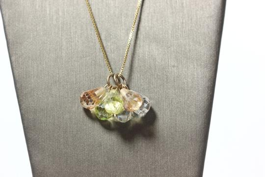 Other Peidot and Topaz Trio Necklace Image 3