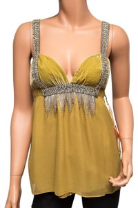 Ingwa Melero 25 St Beaded Silk Velvet Ntw Top Gold