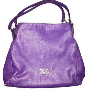 Coach Satchel in Dark Purple