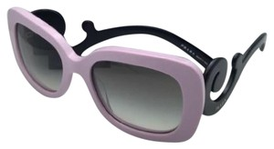 Prada New PRADA Sunglasses SPR 27O PDP-0A7 54-19 Pink & Black w/ Grey Fade