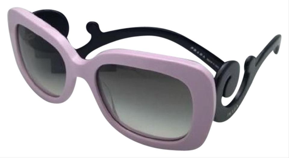 f6aeec876 Prada Spr 27o Pdp-0a7 Pink & Black W/ Grey Gradient Lenses New 54-19 ...