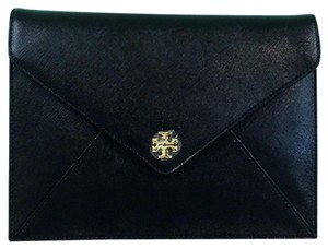 Tory Burch Saffiano Leather Black Clutch
