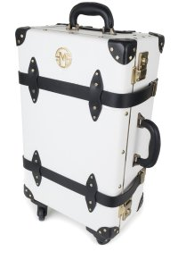 S. McKellar White & Black Travel Bag