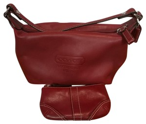 Coach Satchel in Maroon