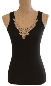 Express Black Embellished Top Black, Gold