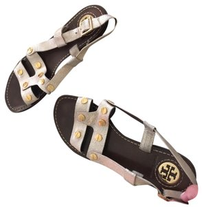 Tory Burch Silver/gold Flats
