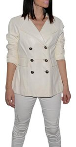 Nine West White Leather Jacket