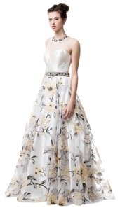 Bicici & Coty Beading Crystal A-line Print Cp6052 Dress