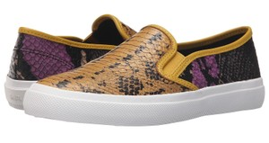 Coach A00966 Chrissy Flax Wildflower Python Leather Slip On Multi-Color Flats