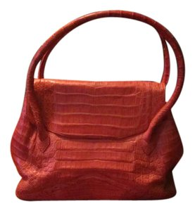 Nancy Gonzalez Satchel in Salmon/Coral