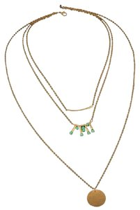Other Boho gold tone and turquoise necklace