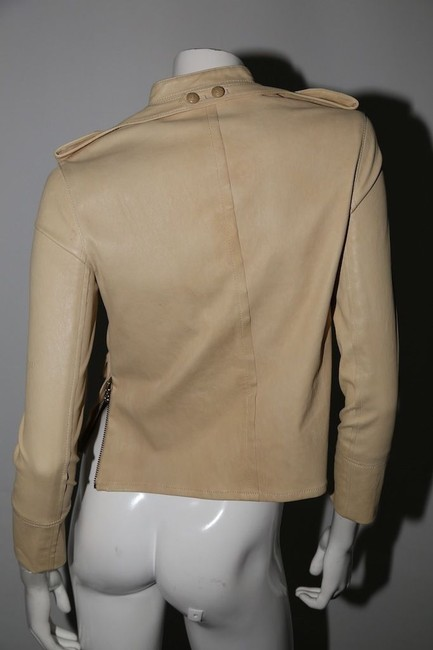3.1 Phillip Lim Cream Leather Jacket Image 1
