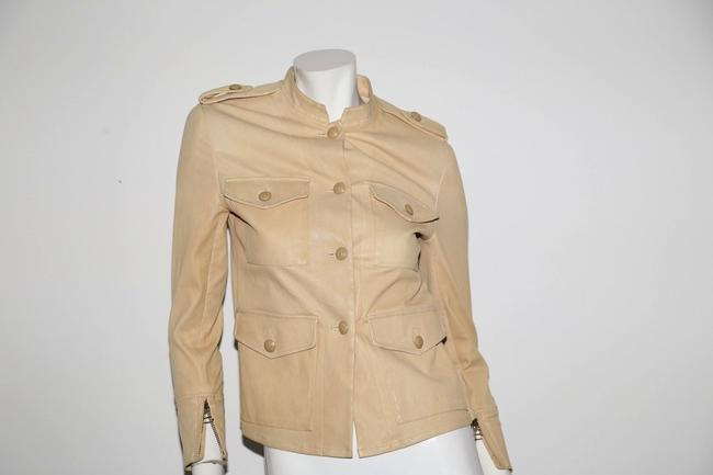 3.1 Phillip Lim Cream Leather Jacket Image 10