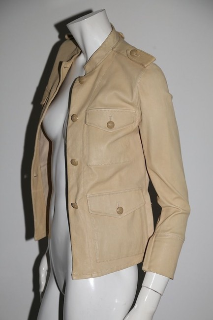 3.1 Phillip Lim Cream Leather Jacket Image 2