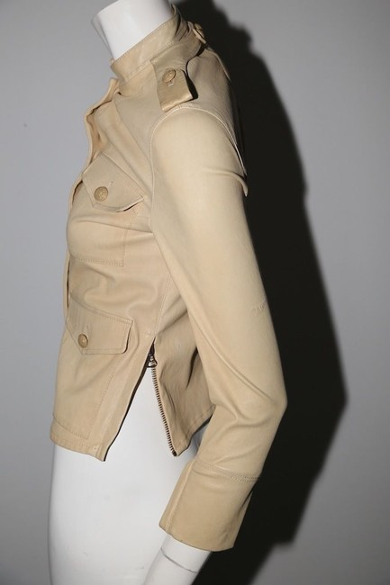 3.1 Phillip Lim Cream Leather Jacket Image 3