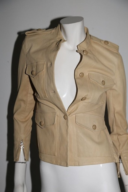 3.1 Phillip Lim Cream Leather Jacket Image 4
