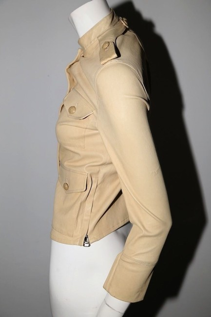 3.1 Phillip Lim Cream Leather Jacket Image 7