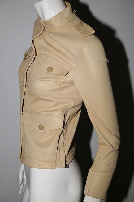 3.1 Phillip Lim Cream Leather Jacket Image 9