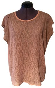 Madewell Lace T Shirt peach