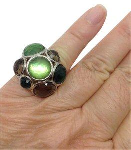 Ippolita size 7.25, green quartz, constellation, dome, statement ring