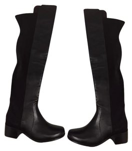 Stuart Weitzman black nappa leather Boots
