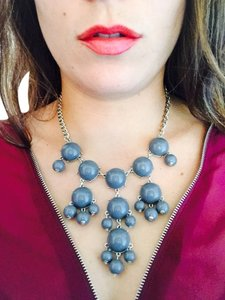 J.Crew Grey Bubble Necklace
