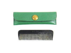 Herms Leather Comb Case Holder