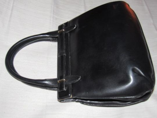 Gucci True 1960's Mod Early Kelly Style Mint Vintage Multiple Compartment Satchel in buttery soft black leather Image 1