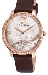 Lucien Piccard Lucien Piccard Mirage Brown Satin White MOP Dial Rose-Tone Case