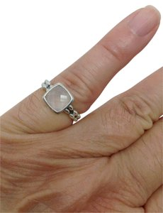 John Hardy Angela by John Hardy, pink chalcedony, solitaire beaded ring