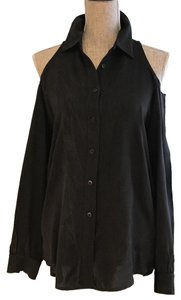 Other Cold-shoulder Tops Cold-shoulders Small Button Down Shirt Black