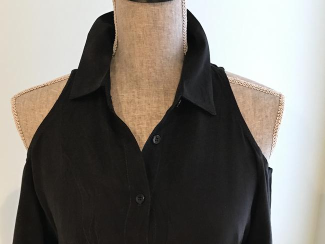 Other Cold-shoulder Tops Cold-shoulders Small Button Down Shirt Black Image 1