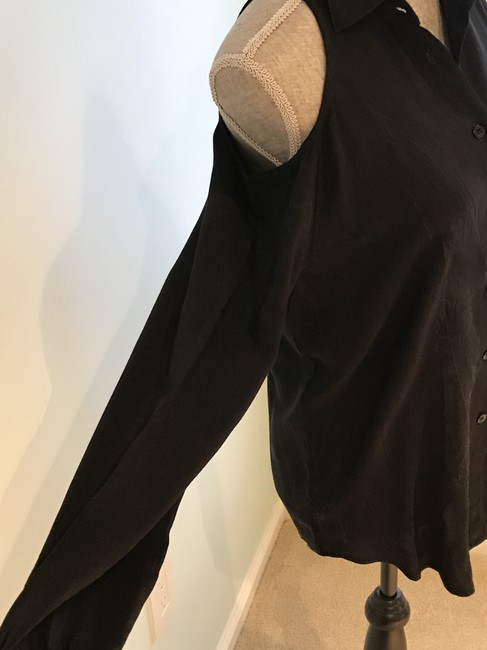 Other Cold-shoulder Tops Cold-shoulders Small Button Down Shirt Black Image 2